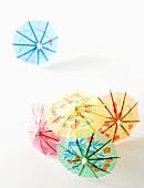 Various cocktail umbrellas