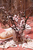 A flowering almond sprig