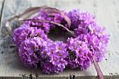 A lilac primrose wreath
