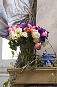 Vases of ranunculus