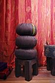 Cushions on stool