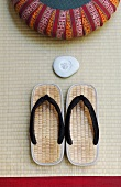 Bathing shoes with soap