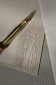 Writing paper and nib pen