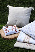 Cushions and textiles with good luck motifs