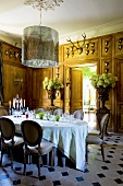 Dining room in Château de la Verrerie, France