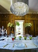 Dining room in Château de la Verrerie, France
