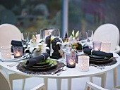 Table laid for special occasion in Asian style