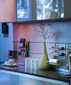 Kitchen counter with rack