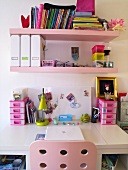 Desk in a girl's room