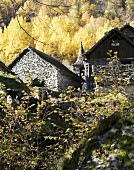 Traditional stone houses in Maggia Valley (Switzerland)