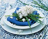 Lilac and grasses (plate decoration)