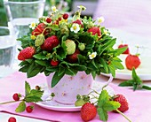 Small posy of strawberries