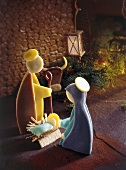 Marzipan Christmas crib