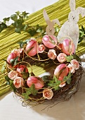 An Easter wreath
