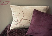 Scatter cushions with perforated pattern