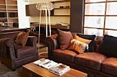 Sitting room in brown