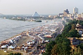 Weltgrösstes Barbecue-Festival in Memphis, TN (Luftaufnahme)
