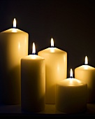 Six Burning Candles in the Dark