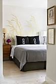 Condo Bedroom with Monogram Pillows