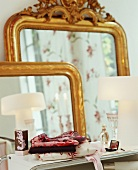 Two antique mirrors on a dressing table