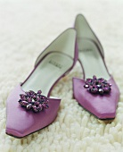A pair of woman's shoes