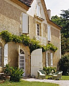 A facade of an old country house in France