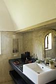 A bathroom in a dammuso (Pantelleria, Sicily, Italy)