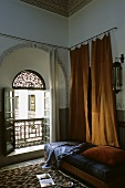 A bedroom in a Moroccan house