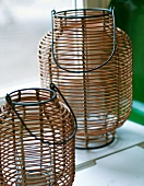 Japanese style wooden lanterns