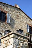 Mediterranean house with a natural stone facade