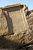 Old stonework in rocks, Nile, Egypt