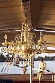 Crystal tear drop chandelier, Nile, Egypt