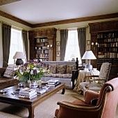 A classic living room in an English country house