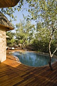 A terrace and a pool in a South African house