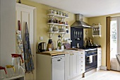 A kitchen in an English country house