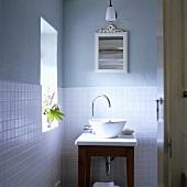 A basin in a bathroom