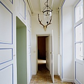 An anteroom in a country house with a built-in cupboard