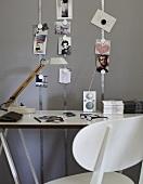 Photos on a desk