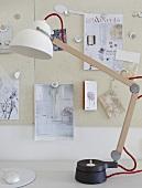 A sturdy, handmade desk lamp