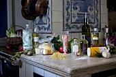 Cooking in the kitchen of a country home