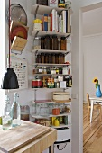 Open shelving in modern kitchen