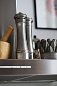 Stainless steel salt and pepper mills