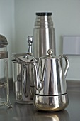 Chrome coffee pot