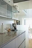 Kitchen units with granite worktop