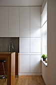 Fitted units in modern kitchen