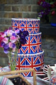 A three piece metal box set featuring the Union flag