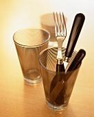 Besteck im Trinkglas