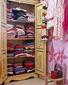Open painted wardrobe (farmhouse style)