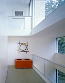 An open-plan anteroom - a gallery in front of a facade