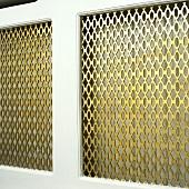 Heizkörperabdeckung aus Metall
